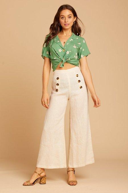 89e84f765d Faithfull The Brand Linen Adita Pants - Cream ...