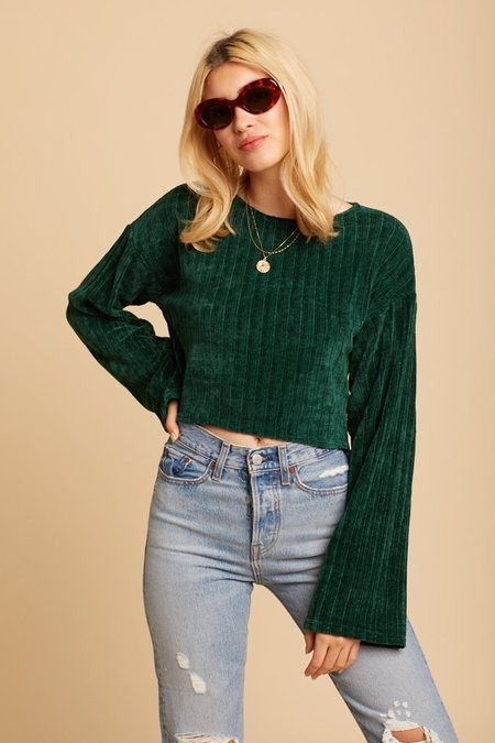 Wild Honey Aspen Sweater - Emerald