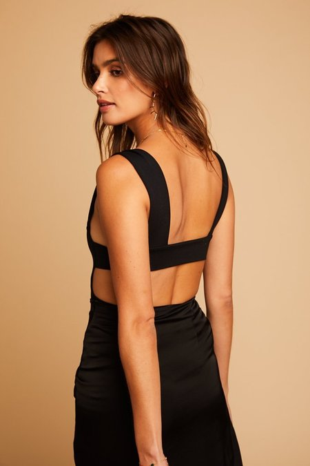 Free People Oh She's Strappy Bodysuit - Black