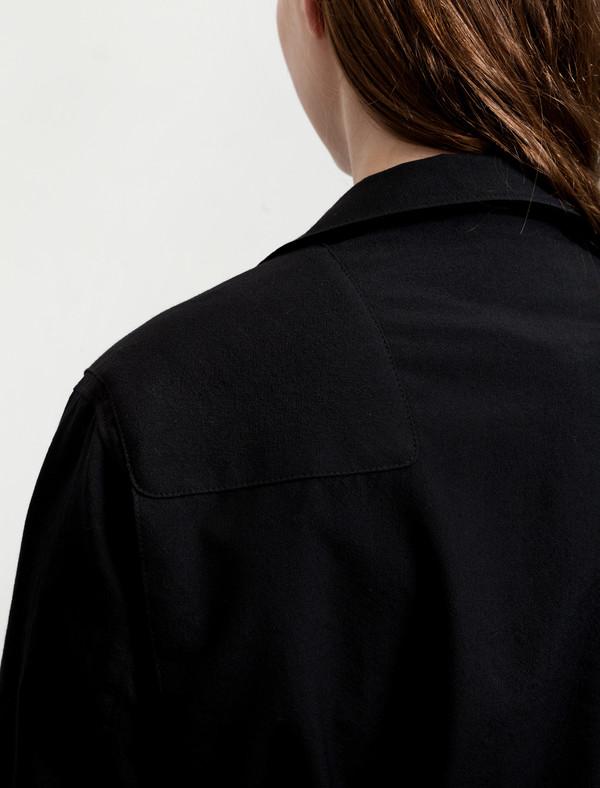 Lemaire  Asymmetrical Jacket Black
