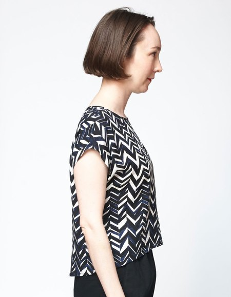 Bishop Collective Box Top - Chevron