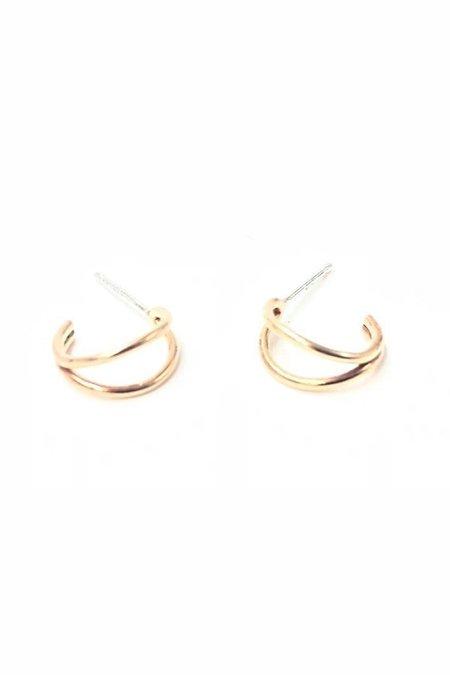Brooke HIll Mini Folded Hoops - 14k Gold Fill/Sterling Silver