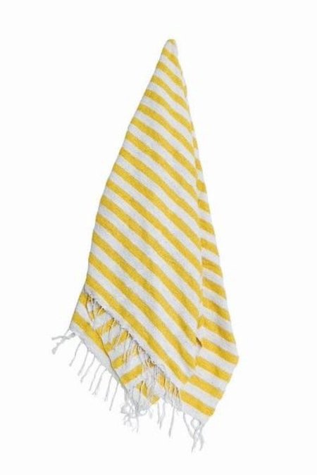 Gunn And Swain The Cocoa Beach Blanket - Yellow/White Stripe
