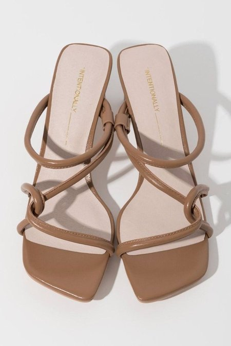 """""""INTENTIONALLY __________."""" Willow Heels - Toffee"""