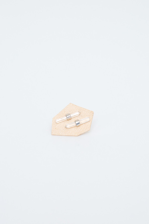 better late than never bar studs crystal bar studs