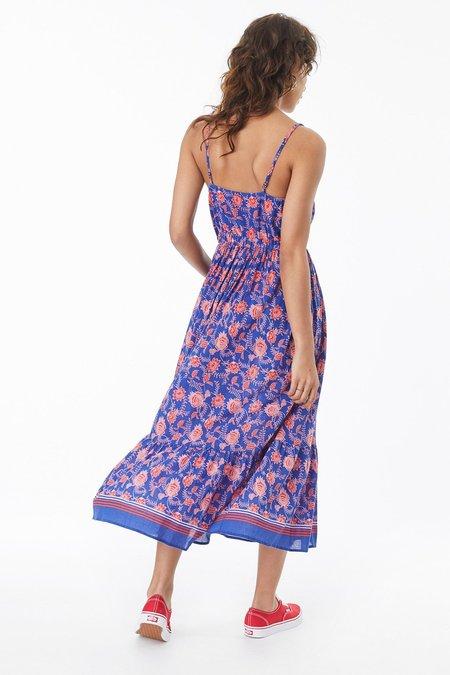 Xirena BARDOT DRESS - BLUE FLEUR
