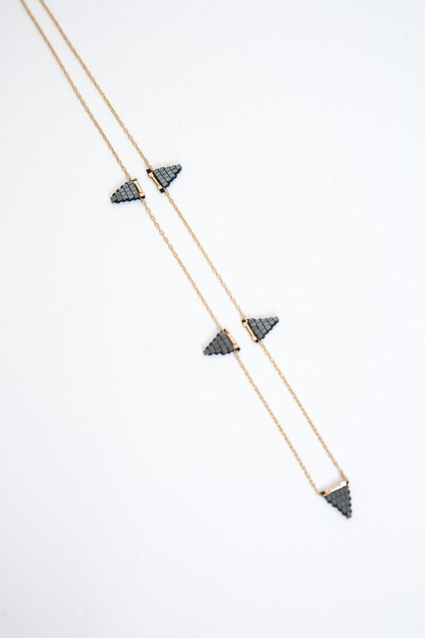 iwona ludyga dusk multi flag short necklace