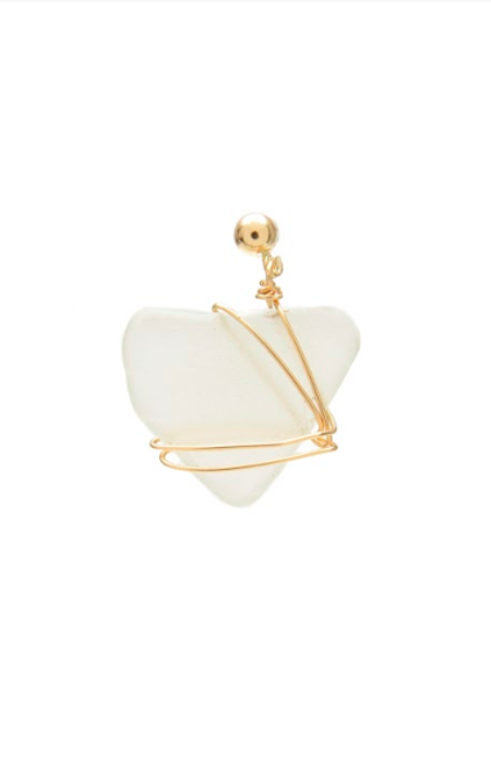 SVNR Abaco Earring - 14k Gold/Seaglass