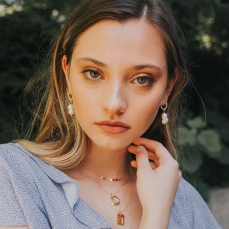 Mod + Jo Statement Earrings Margot Pearl Drops