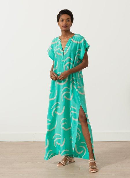 Seek Collective Phoebe Caftan - mint waves print