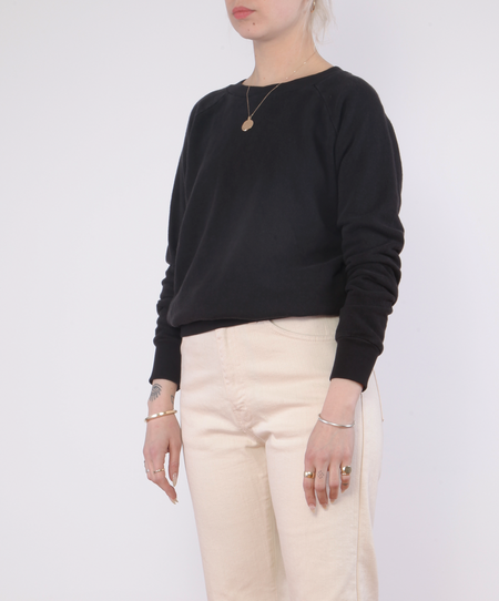 Jungmaven Alpine Raglan Sweatshirt - WASHED BLACK