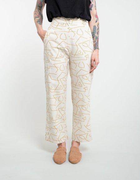 Ali Golden Straight Leg Pant - Lines