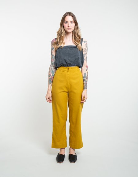 Ali Golden Straight Leg Pant - Sunflower