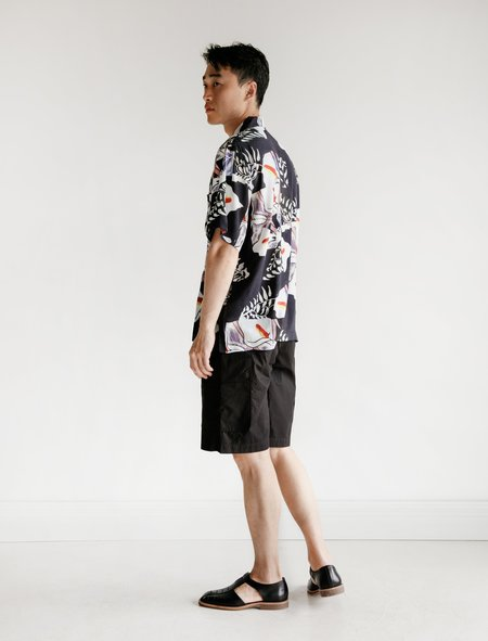 Our Legacy Rest Shorts Parachute - Black Washed