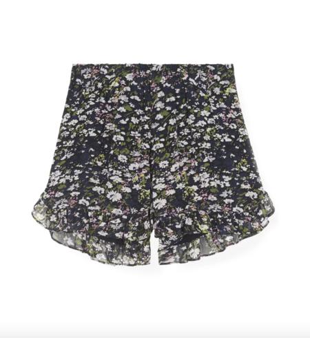 Ganni Printed Shorts - Black