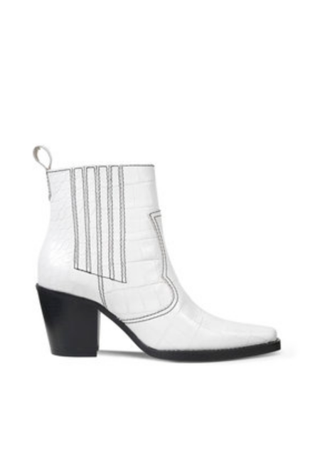 Ganni Western Boot - White