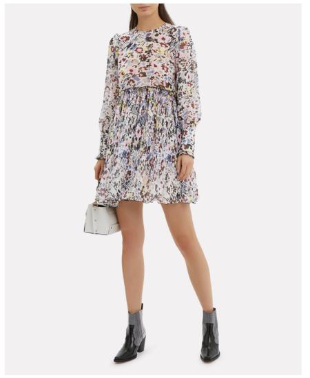 Ganni Mini Dress - Egret