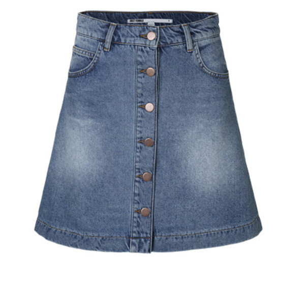 "Just Female ""Pine"" A-Line Denim Mini"