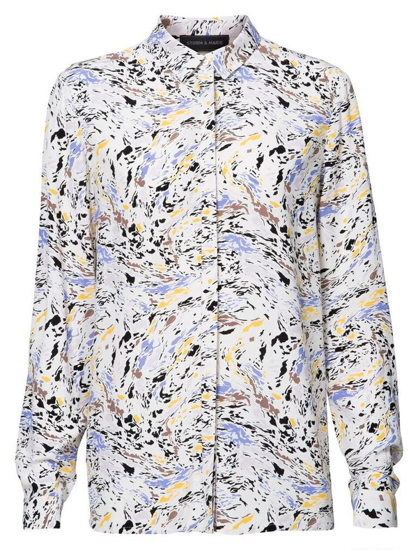 "Storm and Marie ""Oil"" Long Sleeve Printed Shirt"