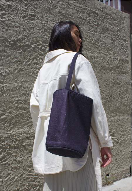 Lotfi Melo cotton canvas bag - indigo