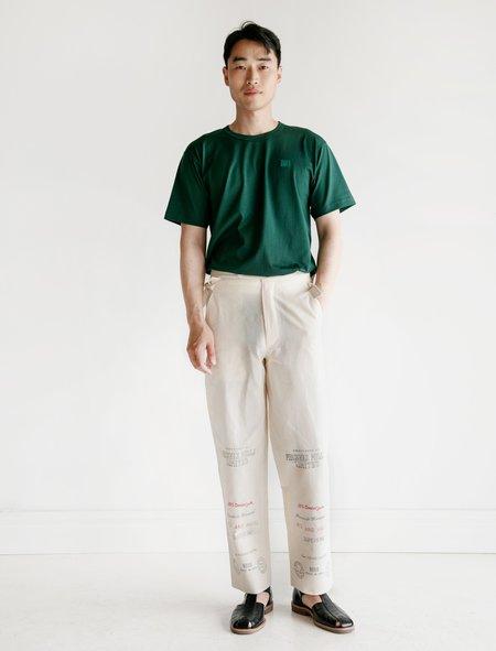 Bode Mill Print Cotton Trouser - Ecru