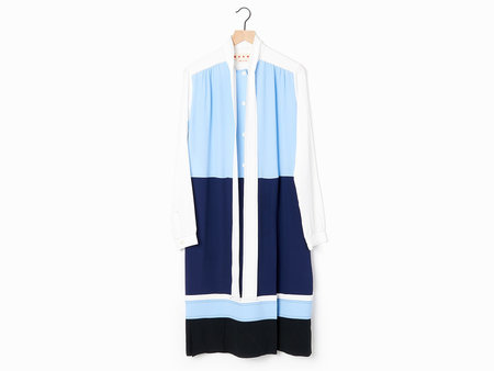 Marni Patchwork Dress - Sky/Navy