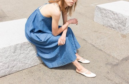 Micaela Greg Loop Dress - Sun Fade Wash