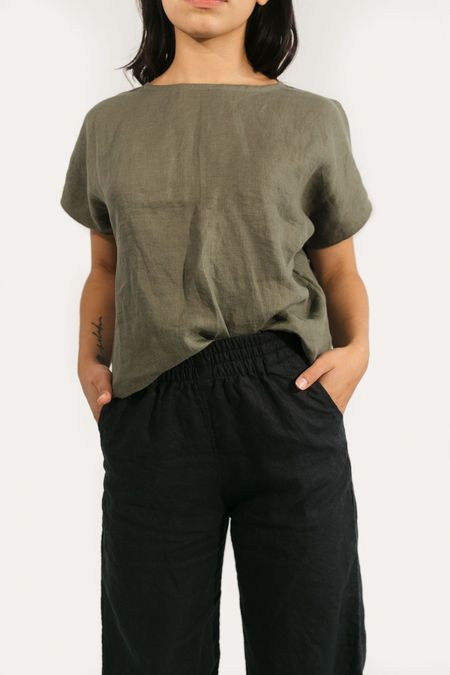 Two Fold Clothing Linen Krissy Tee