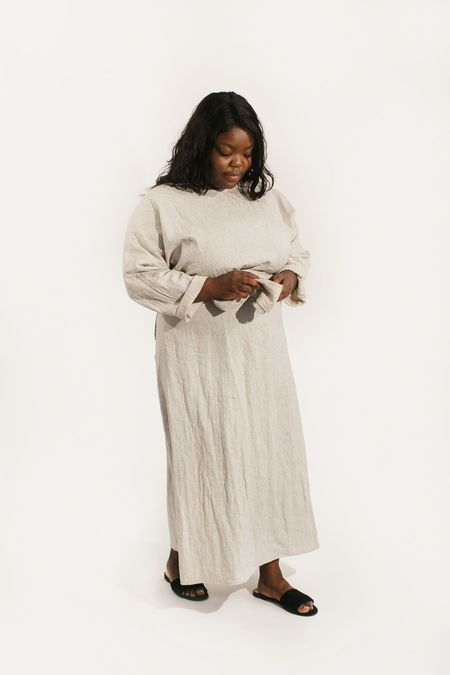 Two Fold Clothing Cotton/Linen Long Sleeve Clara Dress