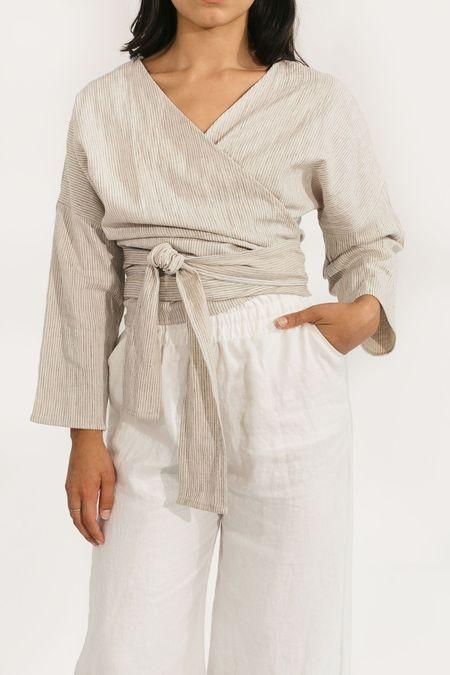 Two Fold Clothing Cotton/Linen Long Sleeve Clara Top