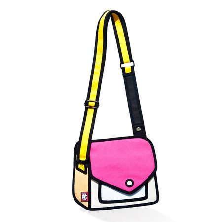 KIDS Jump from Paper Giggle Shoulder Bag - Pink/Yellow