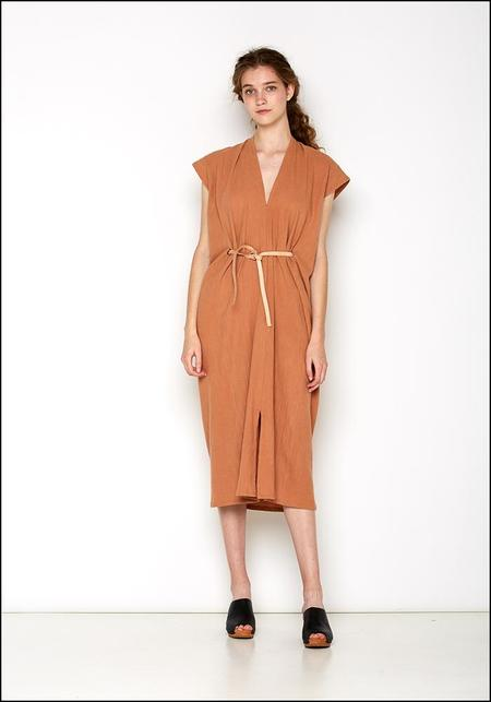 Miranda Bennett Knot Dress with Leather Belt