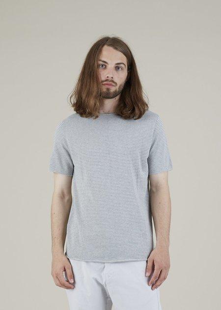 Hannes Roether Funes Knit Tee - Grey Stripe