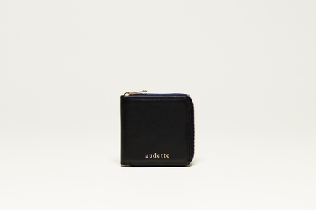 AUDETTE CARRÉ WALLET - BLACK