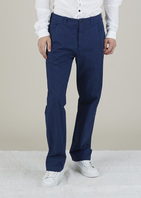 Hannes Roether Tampas Pinstripe Trouser - Dark Blue