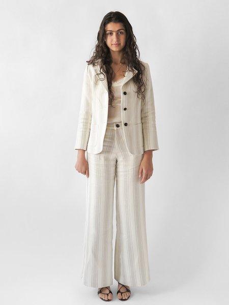 Erica Tanov salvador pant - cream/light grey