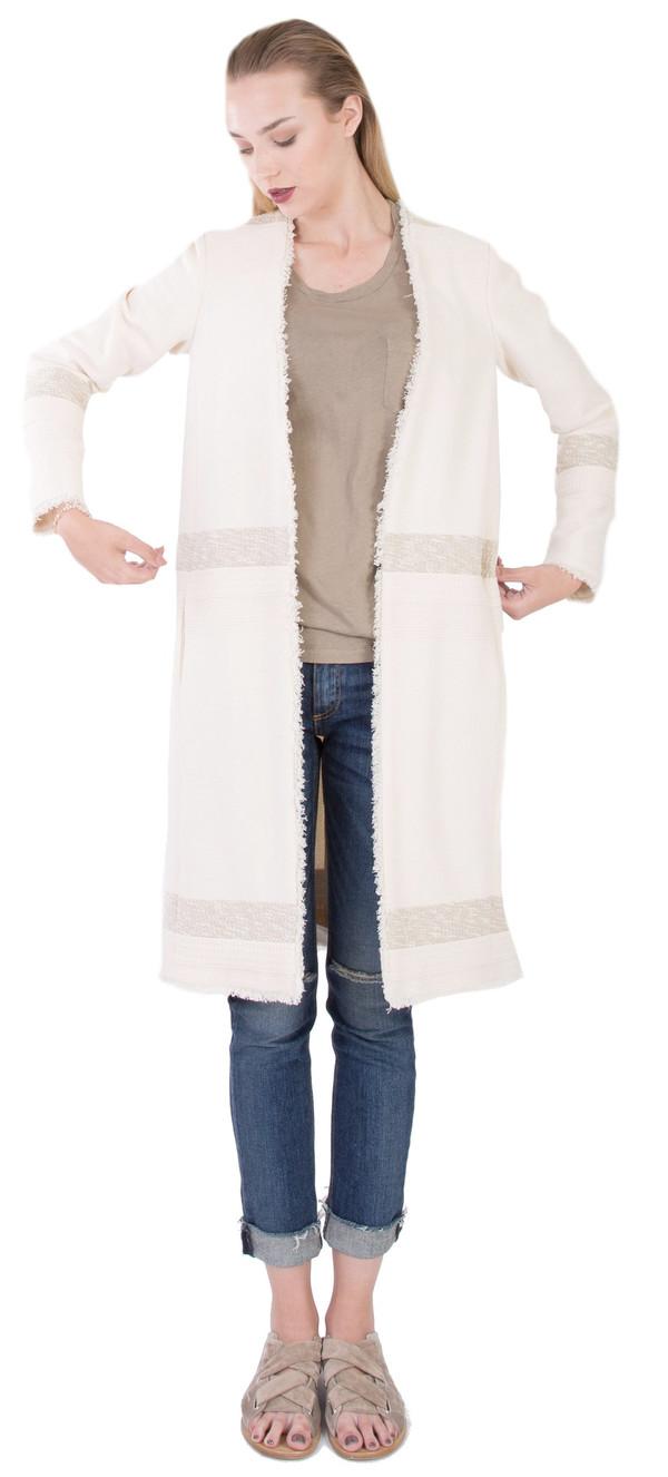 Hoss Intropia Frayed Edges Coat