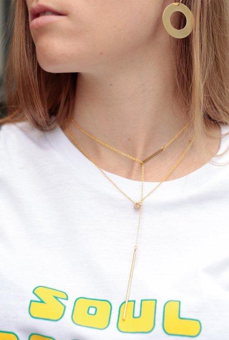 Ak Studio Natural Flow Necklace - Brass