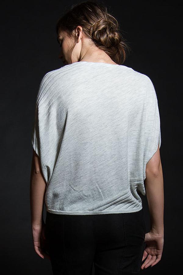 Paychi Guh Cashmere Asymmetrical Popover Dove Grey