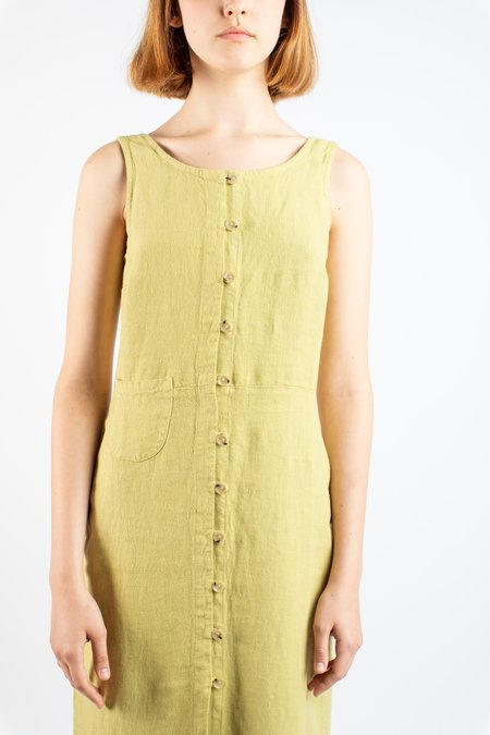 Paloma Wool Galatea linen dress - green