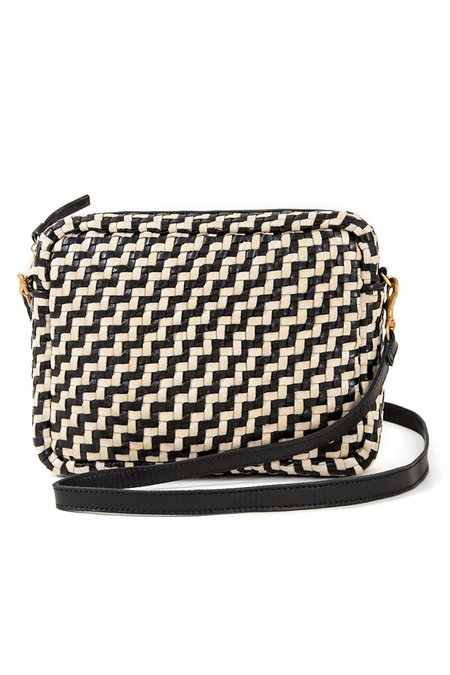 Clare V. Midi Sac - Black/Cream