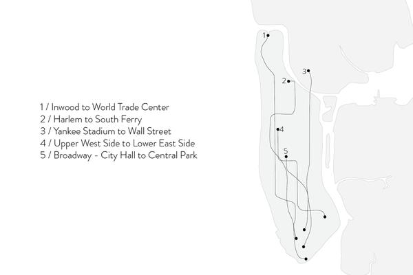 Shahla Karimi Subway Fine Necklace - Inwood to World Trade Center
