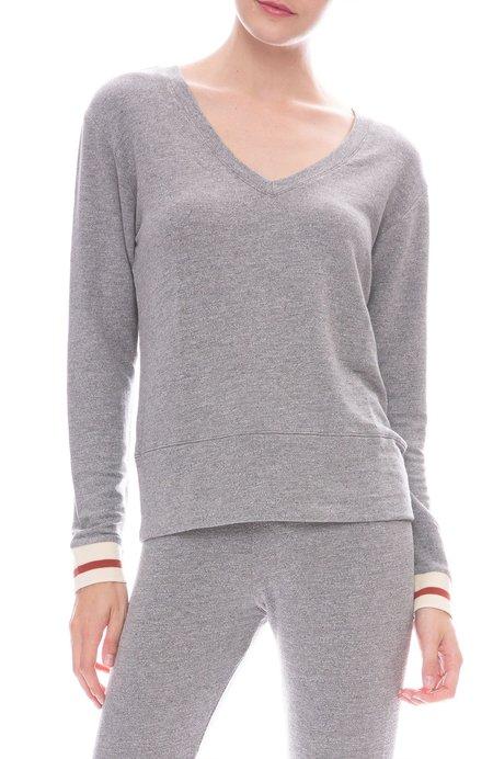 Monrow Supersoft Elastic Cuff Sweatshirt - Dark Heather