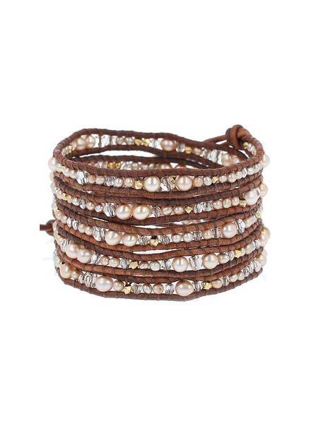 Chan Luu pearl and swarovski crystal mix bracelet