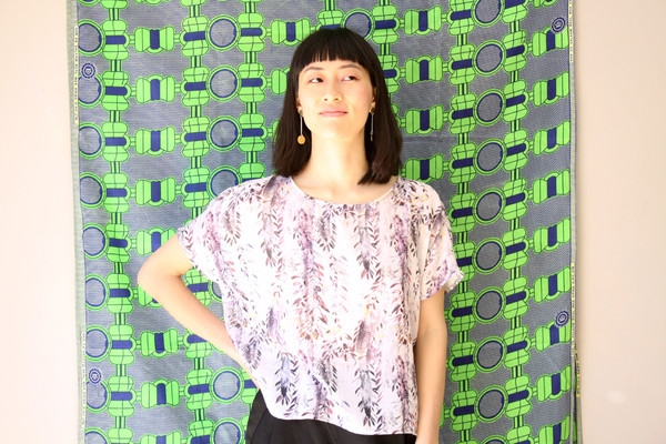 Valerie Dumaine Claire Top (Purple Floral)