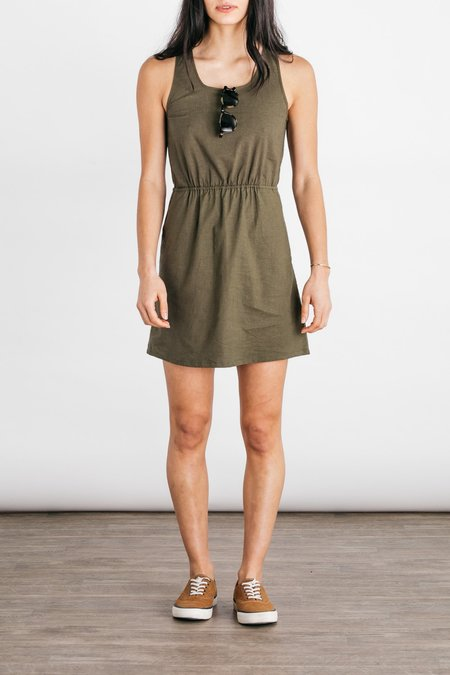Bridge & Burn Fleer Dress - Olive