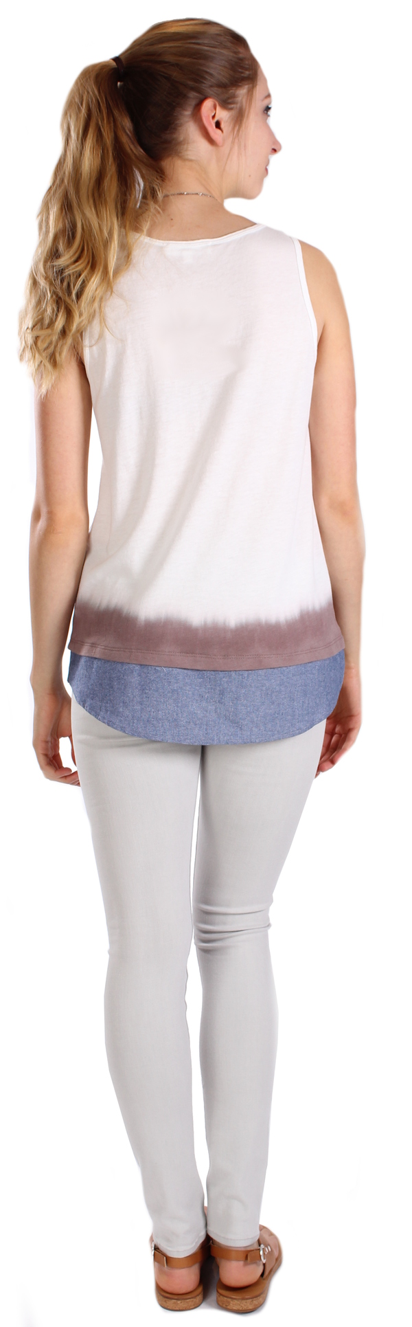 Clu Too Shirt Tailed Dip-Dyed Tank