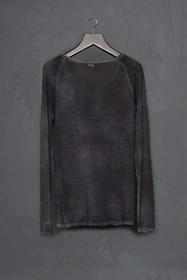 Avant Toi Rolled V Neck Sweater