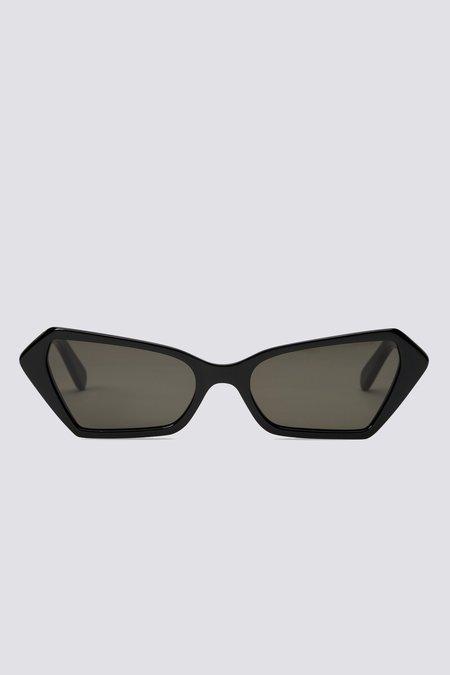 CARLA COLOUR Acetate Battu Sunglasses - Midnight/Mystery