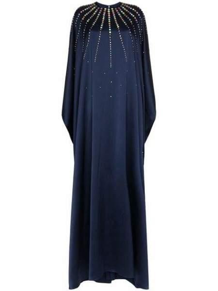 Carolina Herrera Jeweled Caftan - Sapphire Multi